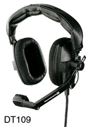 BEYERDYNAMIC DT 109.00 HEADSET 400 ohms, with 200 ohms mic, 1.5m bare ended cable, black