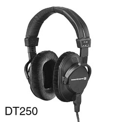 BEYERDYNAMIC DT 250 HEADPHONES 80 ohms, closed back, coiled cable