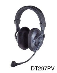 BEYERDYNAMIC DT 297 PV HEADSET 80 ohms, with 300 ohms condenser mic, XLR3M, 6.35mm jack