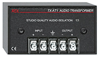 RDL TX-AT1 AUDIO ISOLATION TRANSFORMER 600 ohms, 1:1, terminals