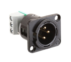 RDL AMS-XLM MODULE 3-pin male XLR connector