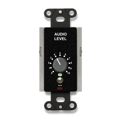 RDL DB-RLC10KM REMOTE Level controller, 0 to 10kOhm, rotary controller, with mute, black