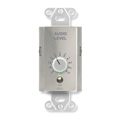 RDL DS-RLC10KM REMOTE Level controller, 0 to 10kOhm, rotary controller, with mute, stainless steel