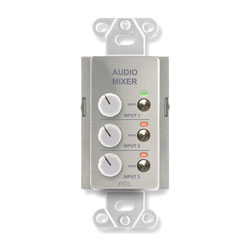 RDL DS-RC3M REMOTE AUDIO MIXER 3 channel, with muting, RJ45 control port, stainless steel