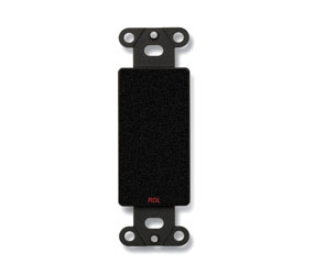RDL DB-BLANK COVER PLATE No cut out, black
