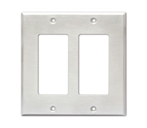 RDL CP-2S COVER PLATE Double, for SMB-2/DC-2/WB-2U, stainless steel