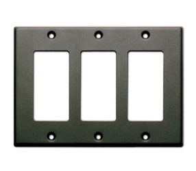RDL CP-3B COVER PLATE Triple, for SMB-3/DC-3, black