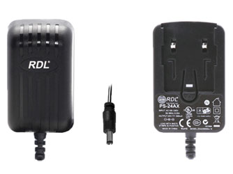 RDL PS-24AX-UK POWER SUPPLY Universal, 24 volt, 500mA, UK plug