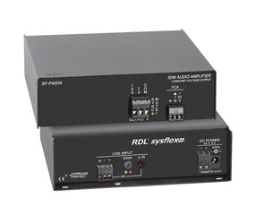 RDL SF-PA50A POWER AMPLIFIER 50W mono, constant voltage, 70/100V, terminal block I/O
