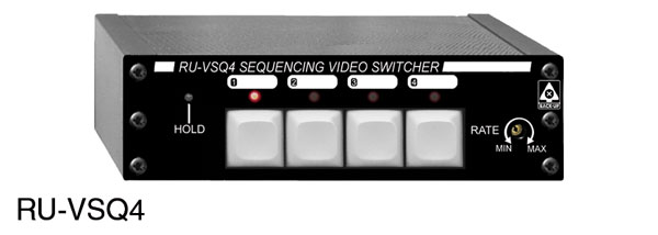 RDL RU-VSQ4 SWITCHER Video, 4x1, loop output, automatic switching, BNC/control, terminal block I/O