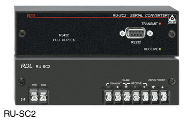 RDL RU-SC2 RACK-UP MODULE Serial data converter RS232/RS422