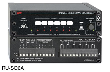 RDL RU-SQ6A SEQUENCING CONTROLLER Adjustable up/down time, up to 6 steps, terminal block I/O