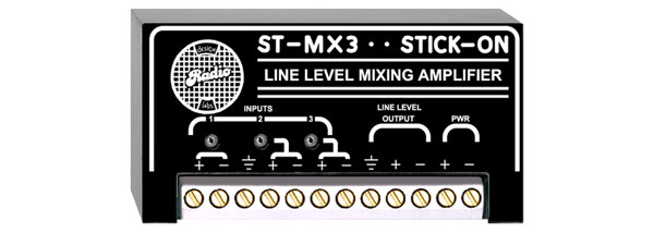 RDL ST-MX3 MIXER 3-channel, line level I/O