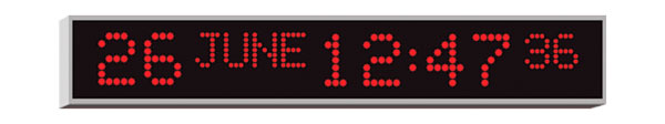 WHARTON 4510E.05.R.S.UK CLOCK 50mm red characters, surface mount