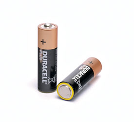 DURACELL MN1500 BATTERY, AA size, alkaline, 1.5V (pack of 4)