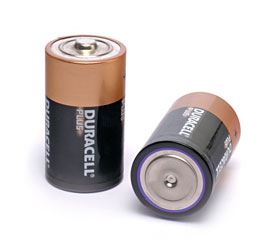 DURACELL MN1300 BATTERY, D size, alkaline, 1.5V (pack of 2)