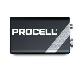 DURACELL PROCELL PC1604 BATTERY, PP3 size, alkaline, 9V (pack of 10)