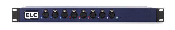 ELC LIGHTING DMXLAN NODEGBX8 SL DMX NODE 8x DMX ports, 2x Ethernet ports, 5-pin XLR