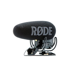 RODE VIDEOMIC PRO+ MICROPHONE Condenser, supercardioid, on-camera, Rycote lyre