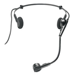 AUDIO TECHNICA ATM75cW MICROPHONE Headworn, condenser, cardioid, for UniPak beltpack radiomic Tx