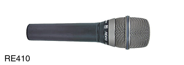 ELECTROVOICE RE410 MICROPHONE Condenser, cardioid, live vocal