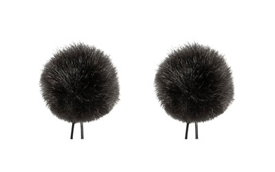 BUBBLEBEE TWIN WINDBUBBLES WINDSHIELD Furry, lav, size 1, 28mm opening, twin pack, black