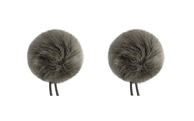 BUBBLEBEE TWIN WINDBUBBLES WINDSHIELD Furry, lav, size 1, 28mm opening, twin pack, grey