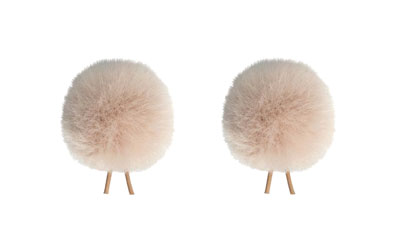 BUBBLEBEE TWIN WINDBUBBLES WINDSHIELD Furry, lav, size 1, 28mm opening, twin pack, beige