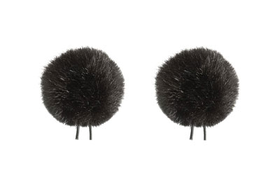 BUBBLEBEE TWIN WINDBUBBLES WINDSHIELD Furry, lav, size 2, 35mm opening, twin pack, black