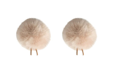 BUBBLEBEE THE TWIN WINDBUBBLES WINDSHIELD Furry, lav, size 2, 35mm opening, twin pack, beige