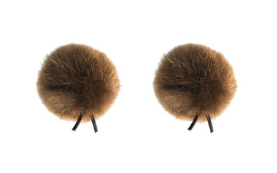 BUBBLEBEE THE TWIN WINDBUBBLES WINDSHIELD Furry, lav, size 2, 35mm opening, twin pack, brown