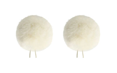 BUBBLEBEE THE TWIN WINDBUBBLES WINDSHIELD Furry, lav, size 4, 42mm opening, twin pack, off-white