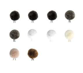 BUBBLEBEE THE WINDBUBBLE ALL-STARS WINDSHIELDS Furry, size 1, 10 pack, black/brown/white/grey/beige