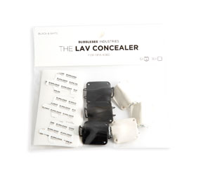 BUBBLEBEE LAV CONCEALER MIC MOUNT For DPA 4060/4061/4062/4063 lavalier, black/white, pack of 6