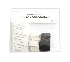 BUBBLEBEE LAV CONCEALER MIC MOUNT For Sennheiser MKE-2 lavalier, black/white, pack of 6