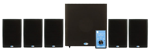 BLUE SKY MEDIADESK MKII 5.1 LOUDSPEAKER SYSTEM Active, 5x Sat4.0, 1x Sub, 3-ch amp