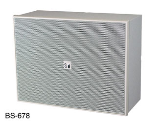 TOA BS-678 LOUDSPEAKER Box, wall-mounting, 160mm dual cone, 0.4-6W taps, off-white, sold singly