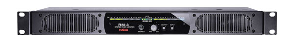 FOSTEX RM-3 AUDIO MONITORING UNIT 1U rackmount, loudspeakers, meters, analogue and AES input