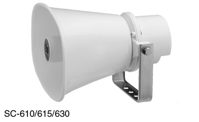 TOA SC-630M LOUDSPEAKER Horn, rectangular, 2.5-30W taps, sold singly
