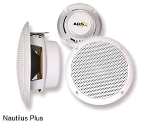 ADS NAUTILUS PLUS LOUDSPEAKER Ceiling, flush-fix, 10W, 8ohms, IP56, water resistant, (pair)