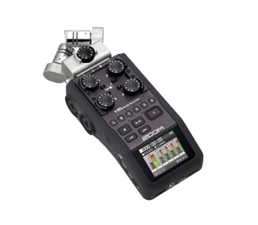 ZOOM H6 HANDY RECORDER Portable, MP3/WAV, SD/SDHC/SDXC card, modular mic capsules, 4x mic/line in