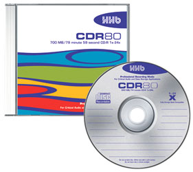 HHB CDR80 Silver writing surface, jewel case