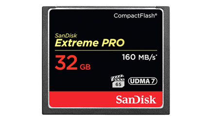 SANDISK SDCFXPS-032G-X46 EXTREME PRO 32GB COMPACT FLASH MEMORY CARD, 160MB/s