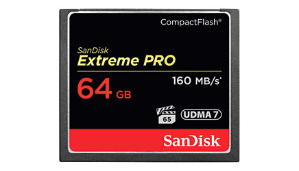 SANDISK SDCFXPS-064G-X46 EXTREME PRO 64GB COMPACT FLASH MEMORY CARD, 160MB/s