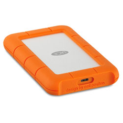 LACIE STFR1000800 RUGGED USB-C 1TB EXTERNAL HARD DRIVE