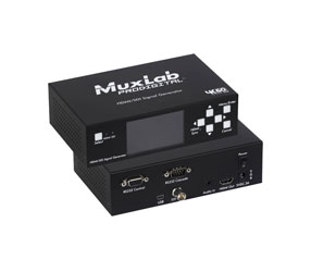 MUXLAB 500830 SIGNAL GENERATOR Portable, SD/HD/3G SDI, up to HDMI 2.0, 3inch LCD display