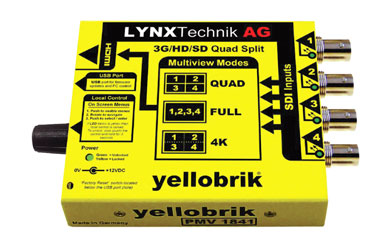 LYNX YELLOBRIK PMV 1841 MULTIVIEWER AND SIGNAL MONITOR - 4x3G/HD/SD-SDI or 1x12G-4KUHD SQD (4x3G)