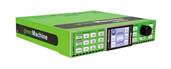 LYNX GREENMACHINE GM6820 CALLISTO DUAL CHANNEL VIDEO AUDIO PROCESSING ENGINE c/w psu, UK cable