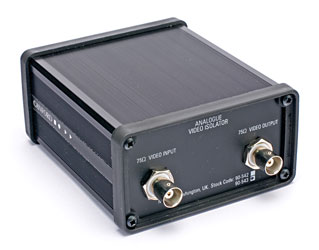 CANFORD VIDEO ISOLATOR Analogue video isolation transformer, dual channel