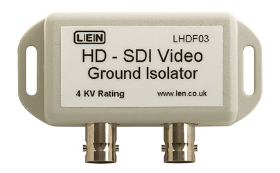 LEN LHDF03 VIDEO ISOLATOR Galvanic video and ground path isolator, high voltage, HD SDI